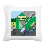 DIY Cat Wash Square Canvas Pillow