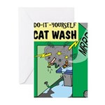 DIY Cat Wash Greeting Cards (Pk of 10)