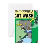 DIY Cat Wash Greeting Card