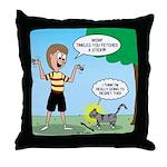 Tinkles Mistake Throw Pillow