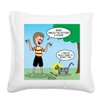 Tinkles Mistake Square Canvas Pillow