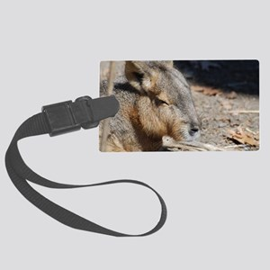 Cute Face of a Capybara Large Luggage Tag