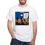 Robot Graduation White T-Shirt