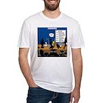 Robot Graduation Fitted T-Shirt