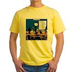 Robot Graduation Yellow T-Shirt