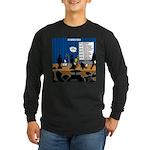 Robot Graduation Long Sleeve Dark T-Shirt