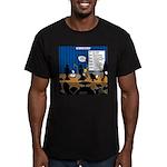Robot Graduation Men's Fitted T-Shirt (dark)