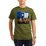 Robot Graduation Organic Men's T-Shirt (dark)
