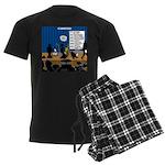 Robot Graduation Men's Dark Pajamas