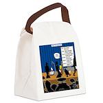 Robot Graduation Canvas Lunch Bag