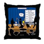 Robot Graduation Throw Pillow