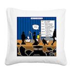 Robot Graduation Square Canvas Pillow