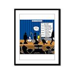 Robot Graduation Framed Panel Print