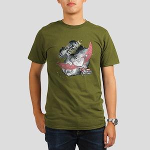 Falcon Watercolor Organic Men's T-Shirt (dark)