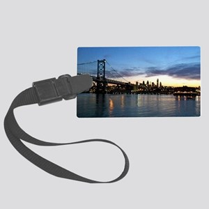 Philadelphia Night Large Luggage Tag