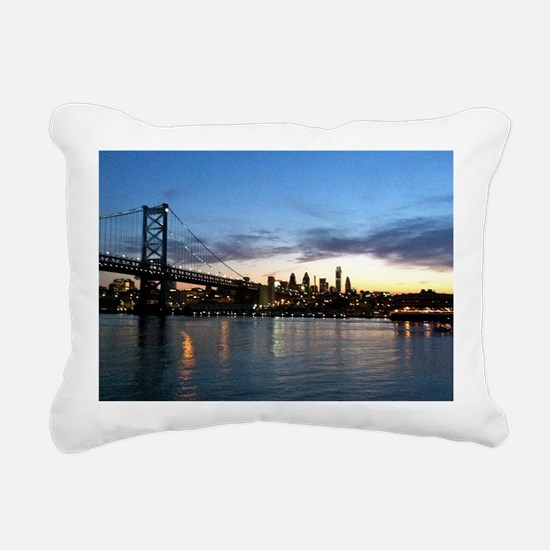 Philadelphia Night Rectangular Canvas Pillow