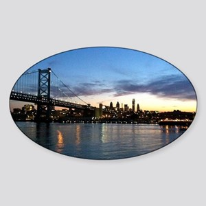 Philadelphia Night Sticker (Oval)