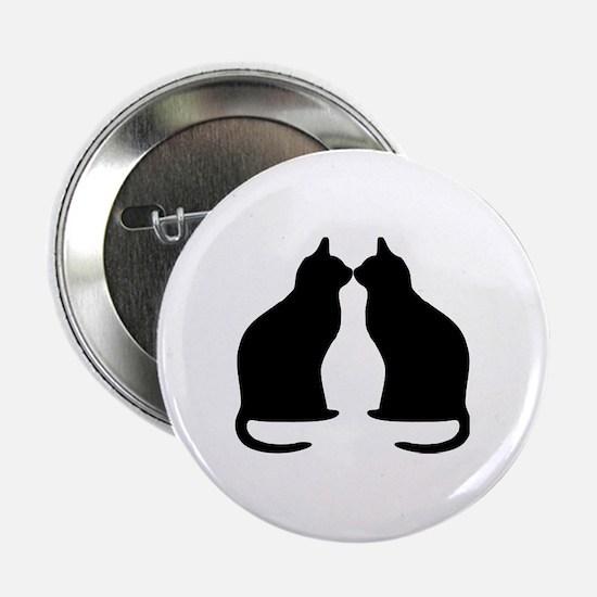 "Black cats silhouette 2.25"" Button"