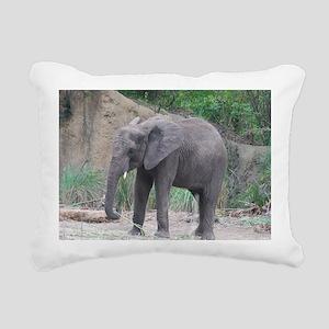 Young Elephant Rectangular Canvas Pillow