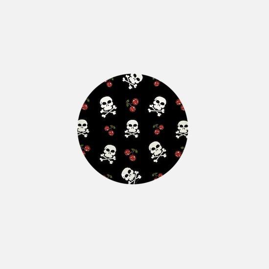 Skulls and Cherries Mini Button