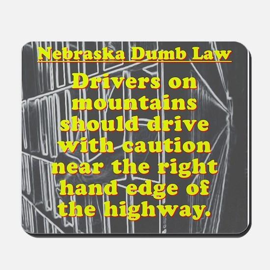 Nebraska Dumb Law 001 Mousepad