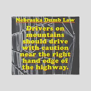 Nebraska Dumb Law 001 Throw Blanket