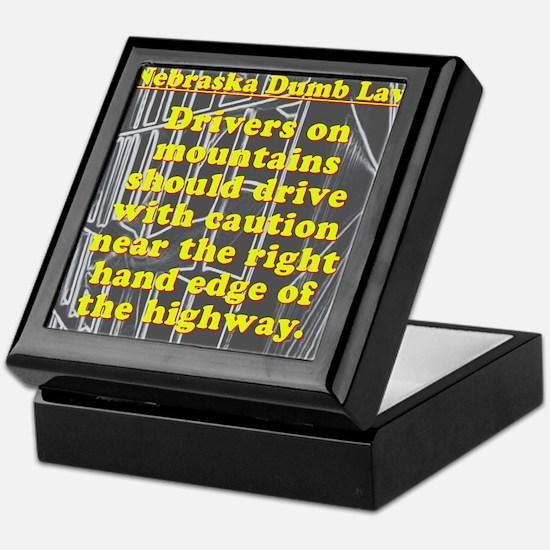 Nebraska Dumb Law 001 Keepsake Box