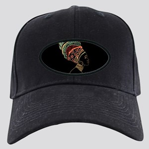 African Woman Black Cap