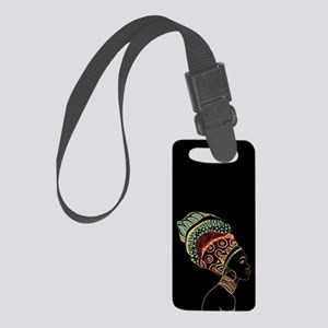 African Woman Small Luggage Tag