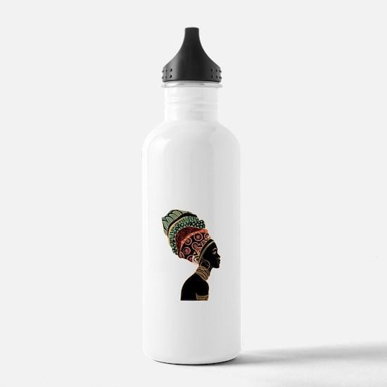 African Woman Water Bottle