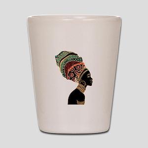 African Woman Shot Glass