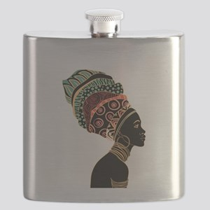 African Woman Flask