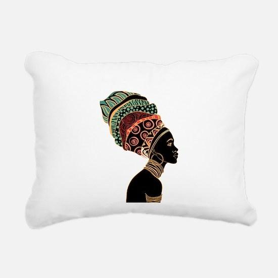 African Woman Rectangular Canvas Pillow