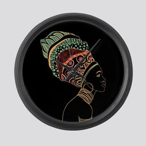 African Woman Large Wall Clock