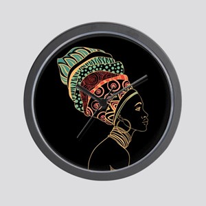 African Woman Wall Clock