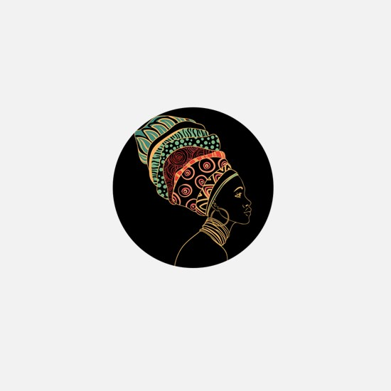 African Woman Mini Button (10 pack)