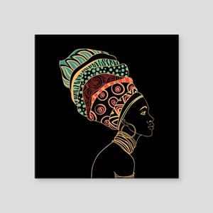 "African Woman Square Sticker 3"" x 3"""