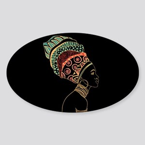 African Woman Sticker (Oval)