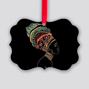 African Woman Picture Ornament