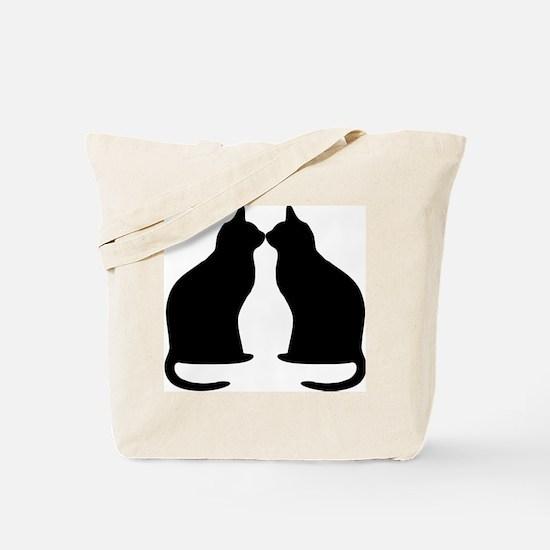 Black cats silhouette Tote Bag