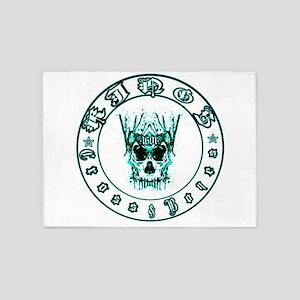 kings cross and bones whiskey 5'x7'Area Rug