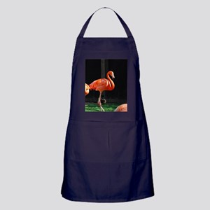 Tropical Pink Flamingos Apron (dark)
