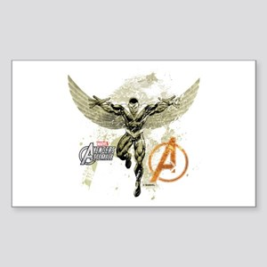 Falcon Grunge Sticker (Rectangle)