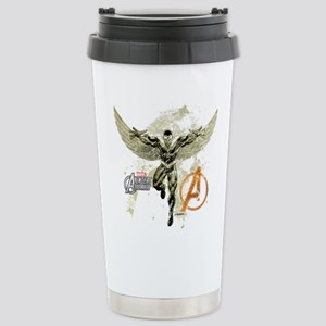Falcon Grunge Stainless Steel Travel Mug