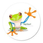 Freddie Frog Round Car Magnet