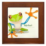Freddie Frog Framed Tile