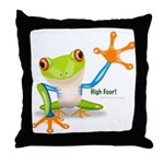 Freddie Frog Throw Pillow