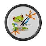 Freddie Frog Large Wall Clock