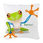 Freddie Frog Woven Throw Pillow
