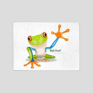 Freddie Frog 5'x7'Area Rug